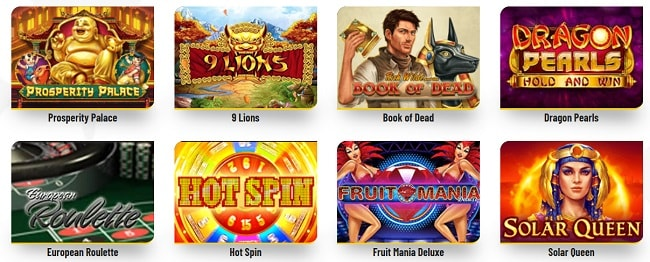 Les jeux de Machance casino