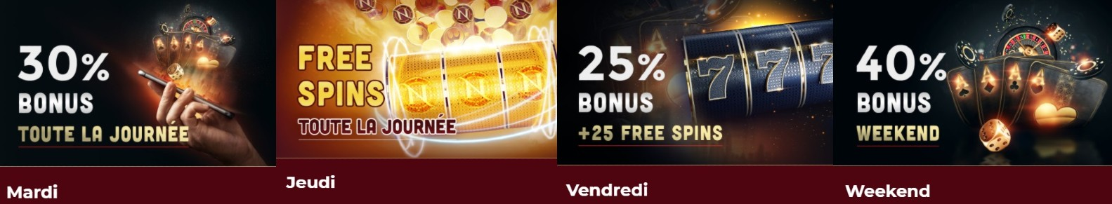 Les promotions disponibles à Nevadawin casino